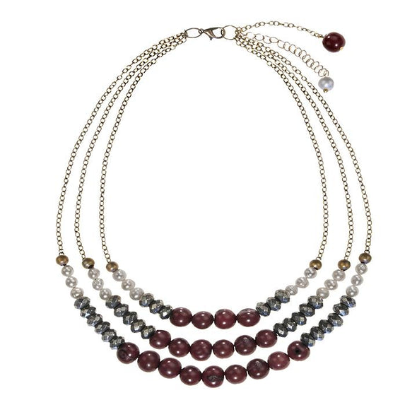 Becket Necklace HHPLIFT Burgundy