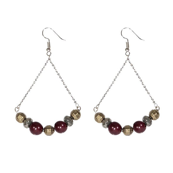 Canterbury Earrings HHPLIFT Burgundy