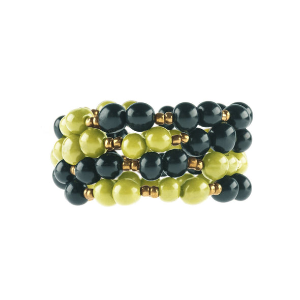 Colorblock Wrap Bracelet HHPLIFT Midnight/Lime