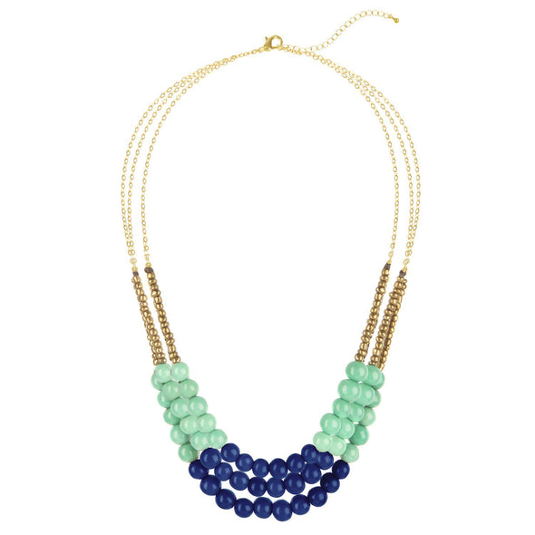 City Garden Necklace HHPLIFT Aqua/Cobalt