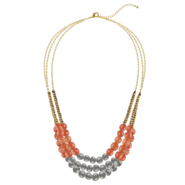 City Garden Necklace HHPLIFT Sunset Orange/Soft Gray