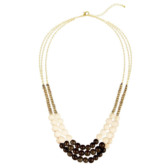 City Garden Necklace HHPLIFT Steel/Ivory