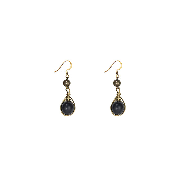 Gatsby Earring Outlet HHPLIFT Onyx