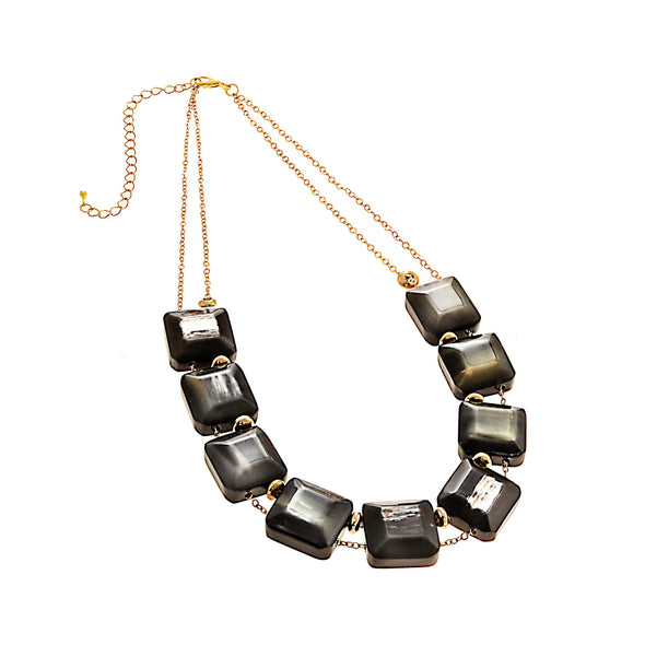 Morro Gem Necklace HHPLIFT Dark Horn