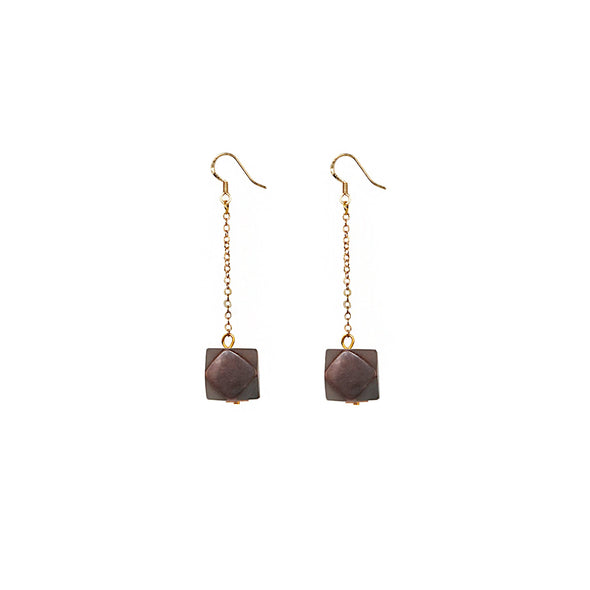 Geo Drop Earring HHPLIFT Chocolate