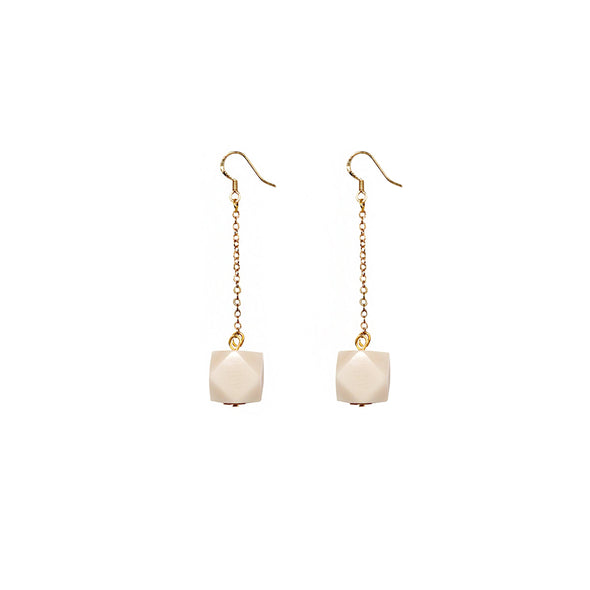 Geo Drop Earring HHPLIFT Ivory