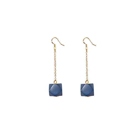 Geo Drop Earring HHPLIFT Pacific Blue