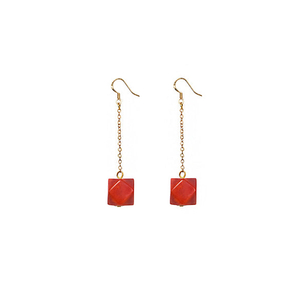 Geo Drop Earring HHPLIFT Cherry Tomato
