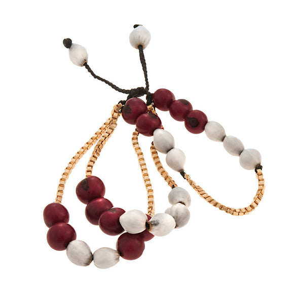 Gilded Acai Bracelet HHPLIFT Burgundy