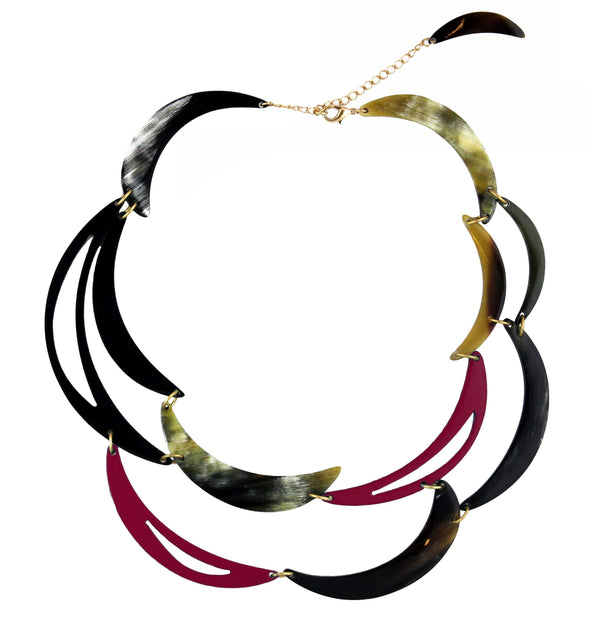 Lily Collar Necklace Outlet HHPLIFT Burgundy