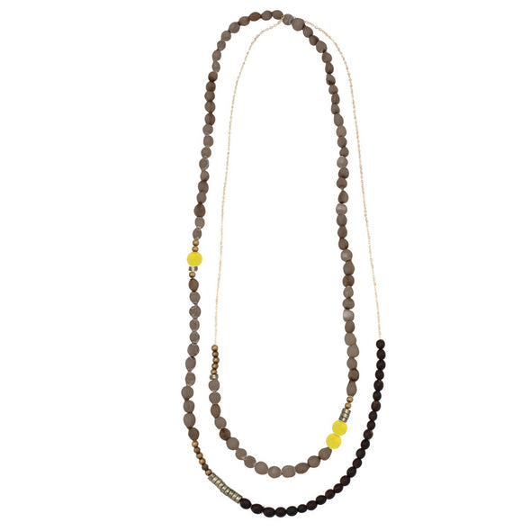 Mae Necklace HHPLIFT Gray/Lemon