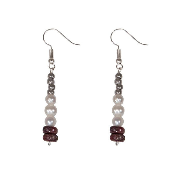 Marian Earrings HHPLIFT Burgundy