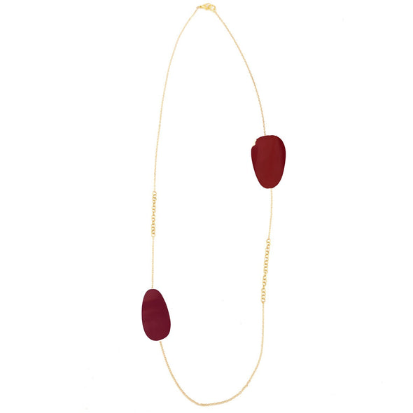 Riverstone Necklace HHPLIFT Burgundy