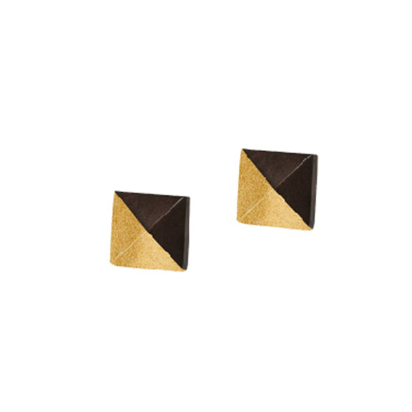 Horn Spike Stud Earrings HHPLIFT Bronze