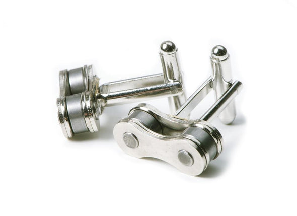 Bike Chain Cuff Links HHPLIFT Chrome