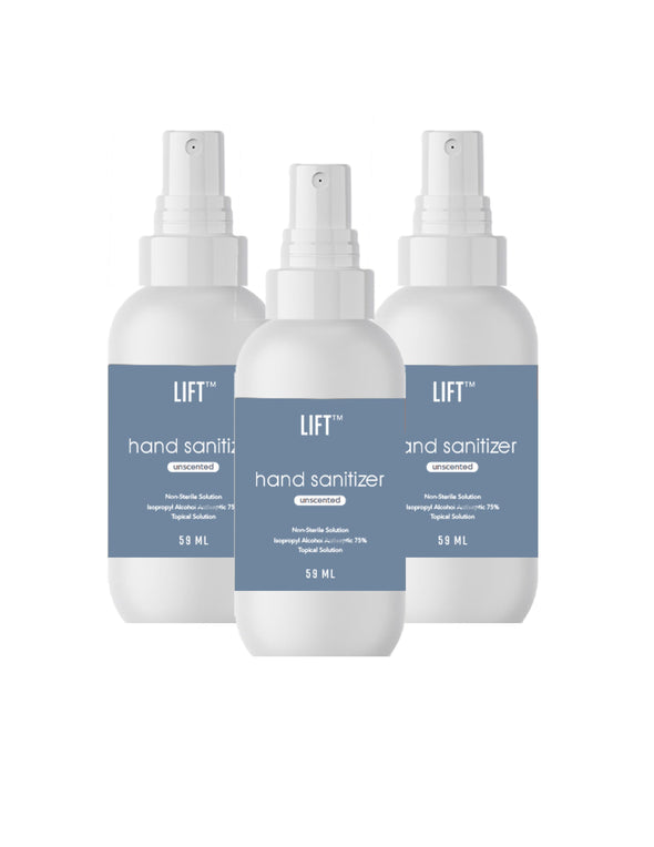 LIFT Hand Sanitizer HHPLIFT Trio Unscented