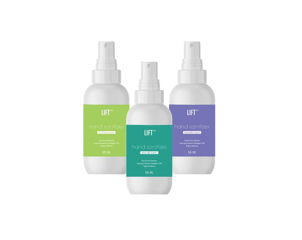 LIFT Hand Sanitizer HHPLIFT Trio Variety