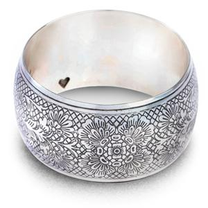 Silver Flora Bangle HHPLIFT