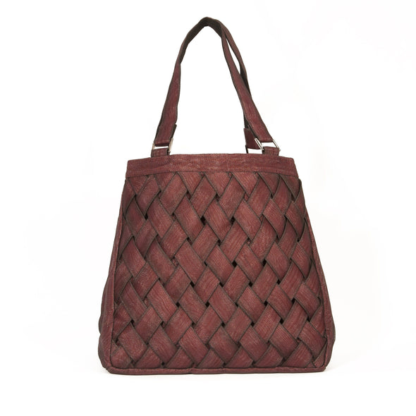 Woven Tote HHPLIFT Bordeaux
