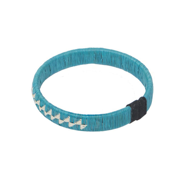 Woven Palm Bracelet - Flower HHPLIFT Flower Blue