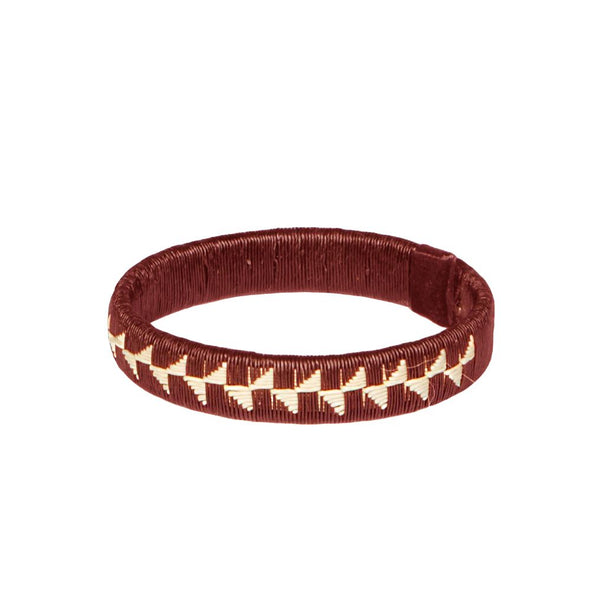 Woven Palm Bracelet - Flower HHPLIFT Flower Bordeaux