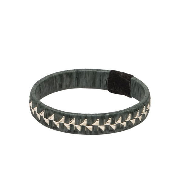 Woven Palm Bracelet - Flower HHPLIFT Flower Gray