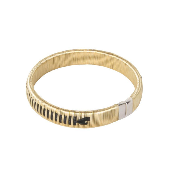 Woven Palm Bracelets - Gold HHPLIFT Gold and Black