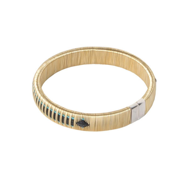Woven Palm Bracelets - Gold HHPLIFT Gold and Blue