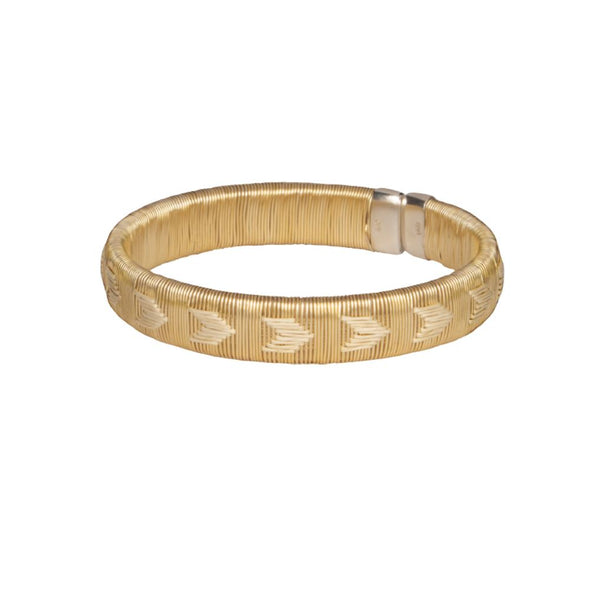 Woven Palm Bracelets - Gold HHPLIFT Gold and White