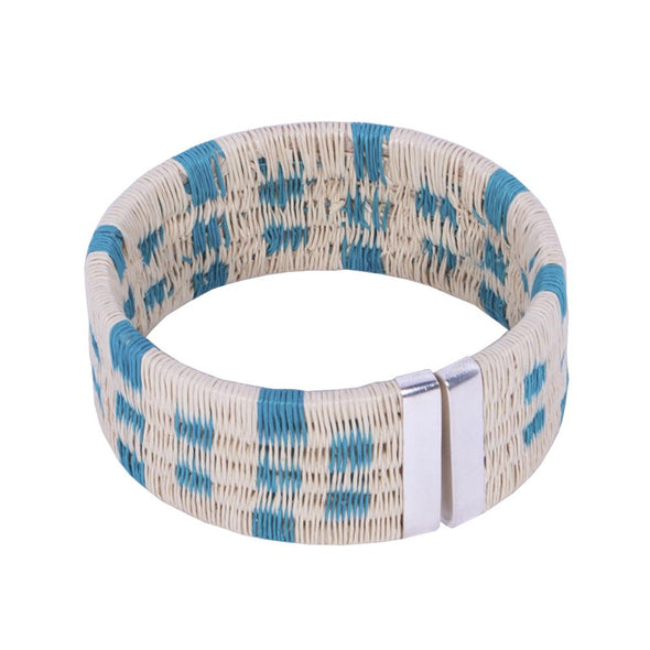Palm Woven Cuff - Island HHPLIFT Island Blue