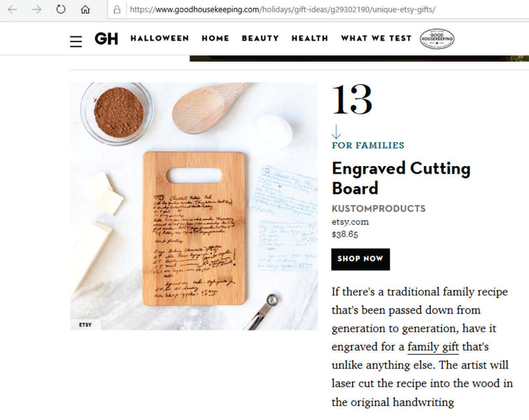 Kustom Products Inc Featured on Good House Keeping!
