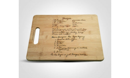Recipe Cutting Board Giveaway November 2018