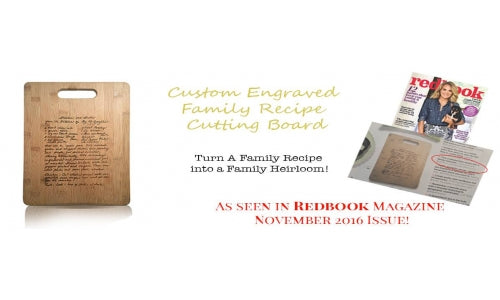 October Giveaway - Custom Engraved Cutting Board!