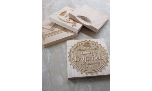 Wood Bottle Opener Coasters: Personalized For You!