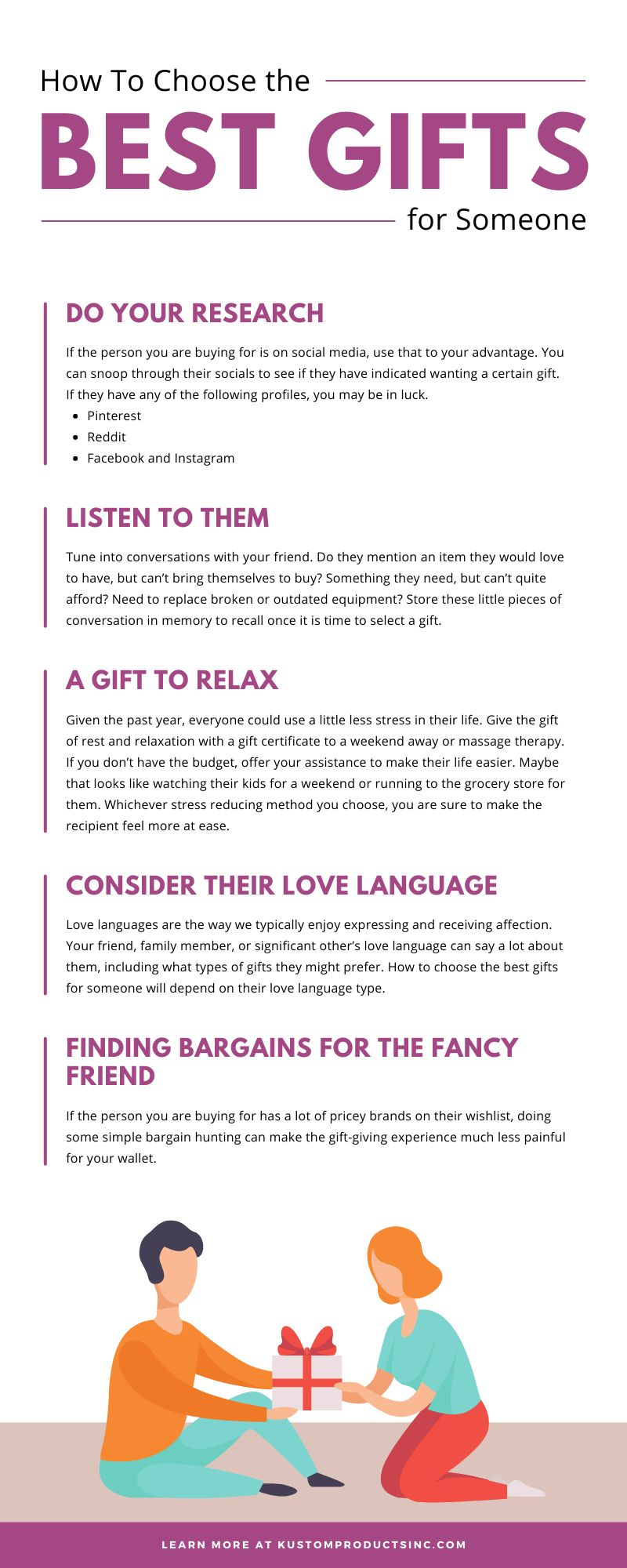 How To Choose the Best Gifts for Someone