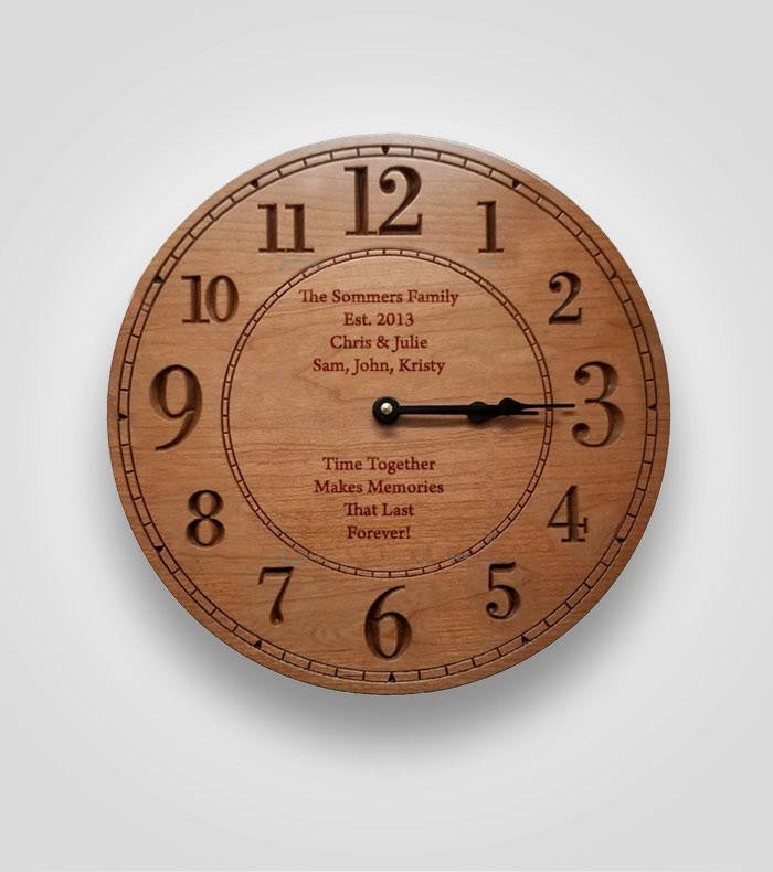 Clock with Numbers | Your Text Here