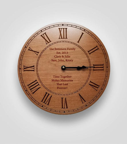 Clock with Roman Numerals | Your Text Here