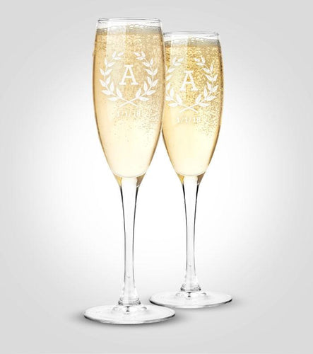 Champagne Flutes | Wreath
