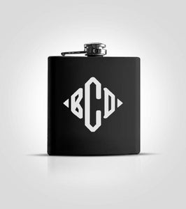 Single Black Flask | #4 Monogram