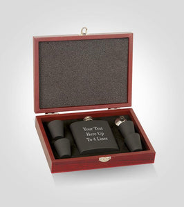 Black Flask Set | Your Text Here