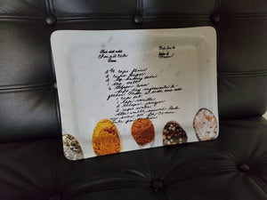 Handwritten Recipe On A Tray