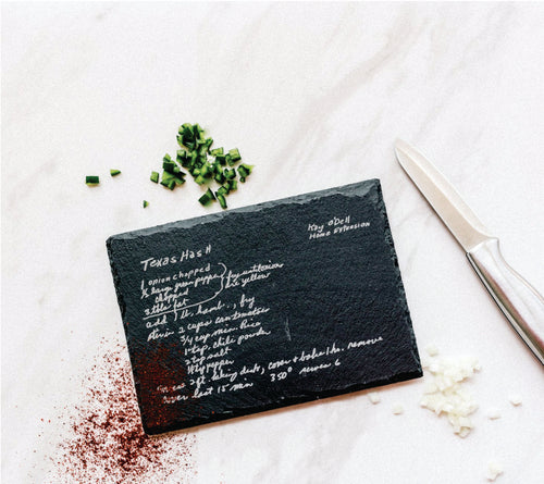 Slate Recipe Board with Stand | Medium
