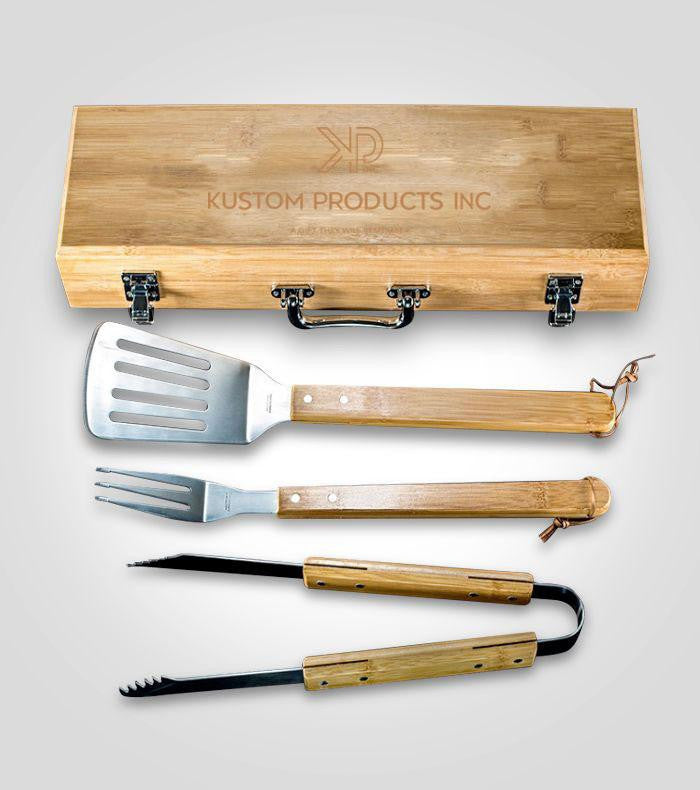 Bamboo BBQ Set | Custom Image