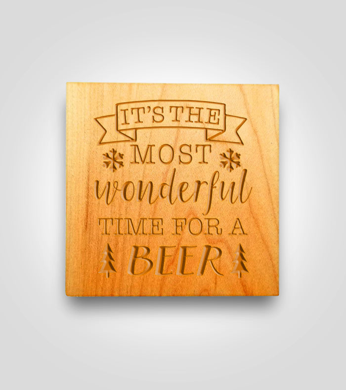 Wood Coaster | Holiday