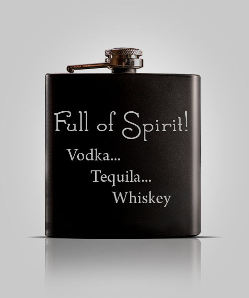 Single Black Flask | Spirits