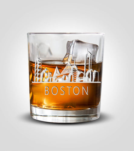 Rocks Glasses | Boston Skyline