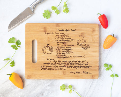 Bamboo Family Recipe Board | Large