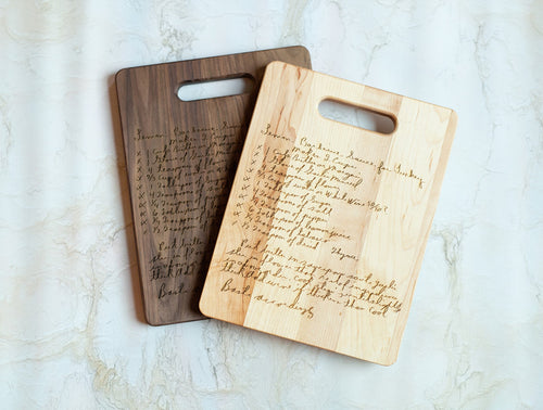 Maple & Walnut Family Recipe Board | Small