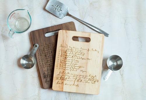Maple & Walnut Family Recipe Board | Medium