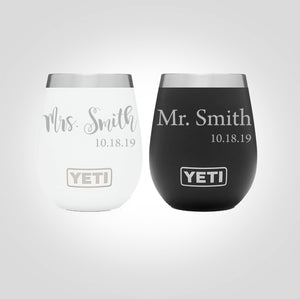 Yeti Wine Tumbler | Mr. & Mrs.